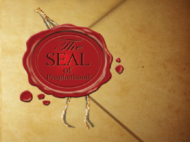 red wax stamp on a old envelope